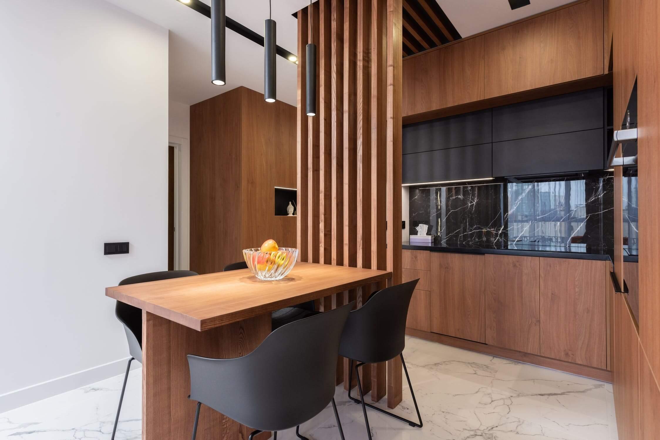 houten keuken modern