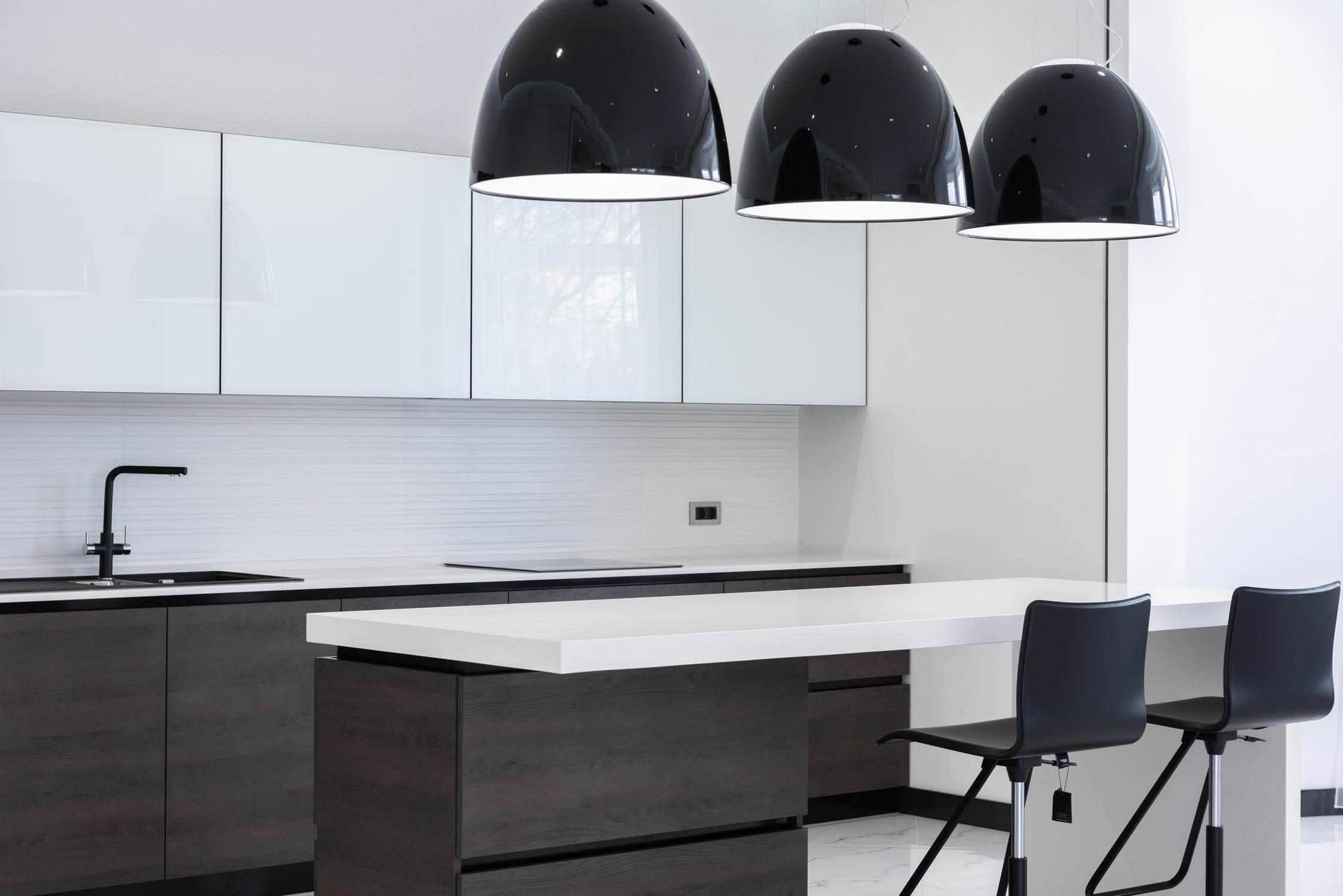 moderne keuken zwart wit
